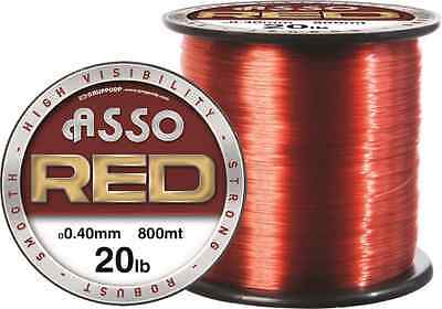 Asso NEW RED Super Tough Mono Fishing Line - 4oz Spool- All Sizes
