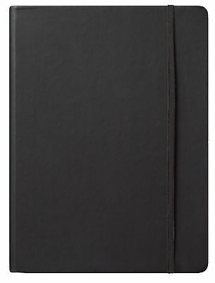 """Eccolo Cool Jazz Journal Large * 256 lined pages 7"""" x10"""" Hardbound Black NEW!"""
