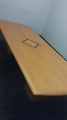 10 foot maple conference table boat shape