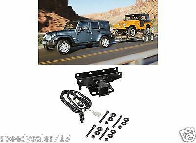 2007 2017 jeep wrangler jk 7 way trailer tow hitch wiring mopar jeep tow combo 2 receiver hitch wiring harness for 2007 2016 jeep