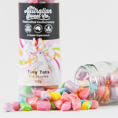 Tiny Tots Fruit Rock Candy Boiled Bulk Lollies - Wedding Favours Party Christmas