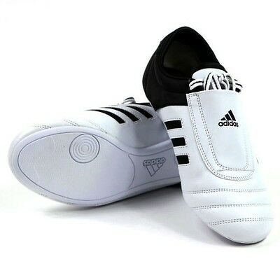 Adidas Adi Kick Training Shoes Karate Taekwondo Trainers - White Black