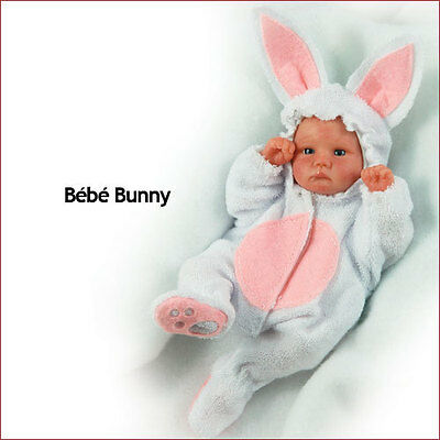 """Reborn Doll Kit 6 Inch Bebe Bunny """"Emmie"""" With Bunny  Outfit"""