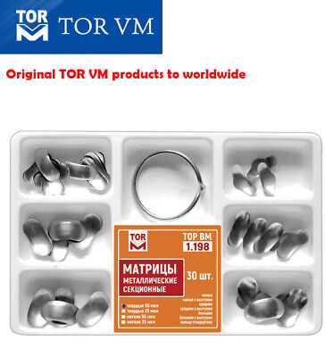 Dental Kit of Sectional Contoured Matrices Matrix 30 pcs/6 types TOR VM