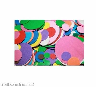 100 Foam Circles ~ 9mm-40mm ~ Great for Decorating Crafts/Scrapbooking