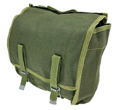 Polish Army Canvas Bag Military Surplus Od Green Pouch Backpack - Unused Nos