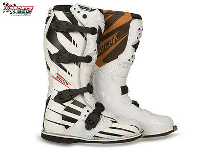Fly Racing Maverik Weiß Motocross Stiefel Enduro MX Cross Quad Boots