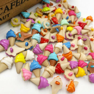 10/50/100pcs Ice Cream Plastic Buttons For Kid's Sewing Notions Crafts Lots PT17