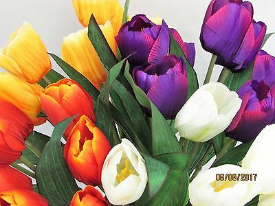 1 Bouquet 12 Heads Artificial Flower Tulip Floral Posy Home Garden Decor