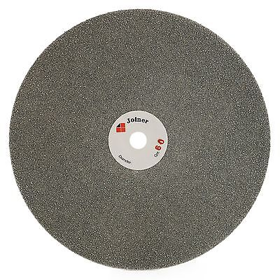 "8"" inch Diamond coated Flat Lap Disk Grinding Polish Wheel Grit 60 Lapidary Gems"