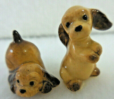 Hagen Renaker Cocker Spaniel Puppies set of two