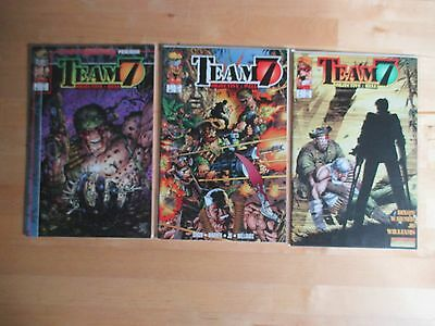 Team 7 Objective Hell (1995-Image) # 1, 2, 3 By Chuck Dixon *wildstorm Rising*