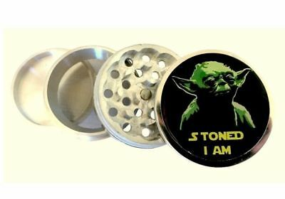 "Funny Stoned Yoda Kitchen Spice Herb Grinder 4 Piece Crusher 2.25"" Star Wars"
