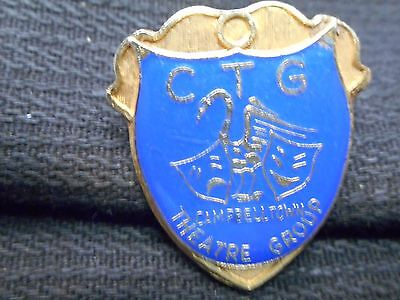 Vintage Ctg Campbelltown Theatre Group Enamel Badge