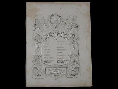 Minstrel Sheet Music African American Minstrelsy 1850s Gems of the Christys