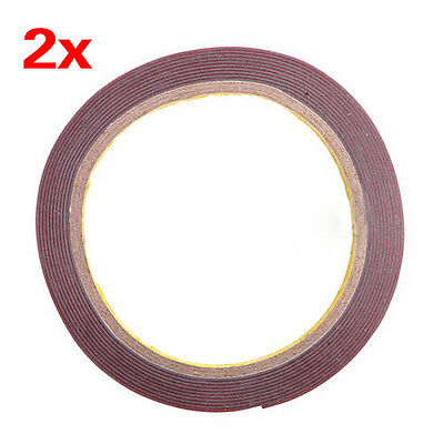 2X 3m 6mm Foam Tape Car Auto Truck Acrylic Attachment Double Side Adhesive LWUS