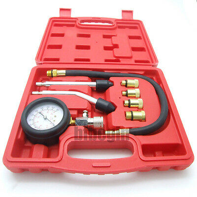 8x  Petrol Gas Engine Cylinder Compression Test Kit Automotive Tool Gauge
