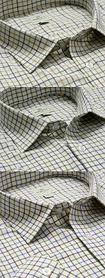Hoggs of Fife Cotton Tattersall Check Shirt 3 colours available.  (CC)