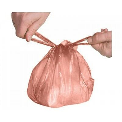 250 x Disposable Nappy Sack Bin Bags Orange Fragranced Handle Scented Perfumed