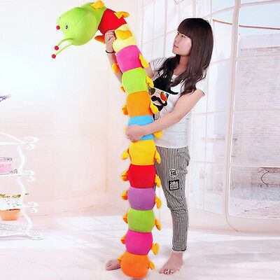 Popular Colorful Inchworm Soft Lovely Developmental Child Baby Toy Doll Pillow