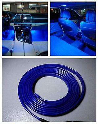Blue 2M EL Wire Car Interior Fluorescent Strip Lamp Cold Light 12V For Chevrolet