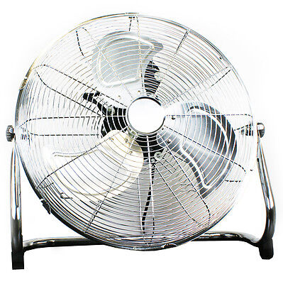 """NEW! 14"""" Chrome High Velocity Industrial 3 Speed Free Standing Large Gym Fan"""