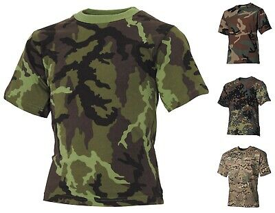 KINDER T-SHIRT Militär Army Kindershirt Bundeswehr flecktarn woodland dpm BW
