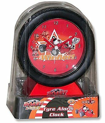 ROARY THE RACING CAR - Tyre Analogue Alarm Clock (Wesco) #NEW