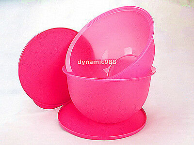 2 x New TUPPERWARE New TupperwareLarge Expression Bowl 4.3L Pink with Lid Limit