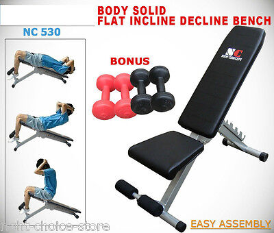 New Sit up Bench Flat Incline Decline  Adiustable Fitness Gym