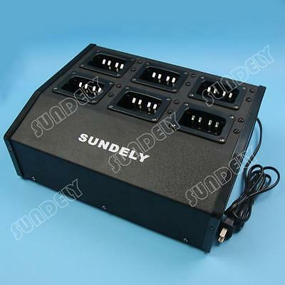 6 Slot Dock Rapid Charger For Motorala IMPRES Radio XIRP8200 XIRP8208 XPR6350