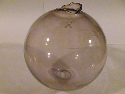 "Lightening Rod Glass Globe ! Purple Tinted Lightning ""k"" Embossed Weathervane"