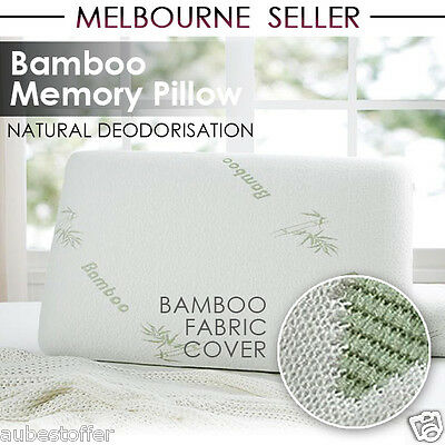 BEST Deluxe Bamboo Elastic Memory Foam Contour Pillow 11cm Thick Large Size