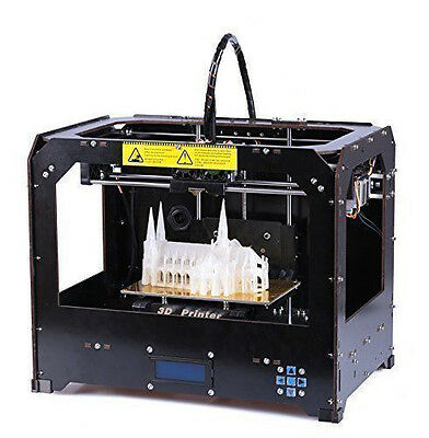3D Printer Black based on Makerbot Rep CTC 3D Printer dual-nozzle CE + 1KG ABS
