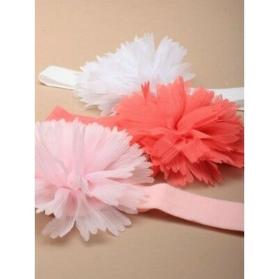 Cute Adorable Childs stretch fabric bandeau with chrysanthemum flower 3 colours