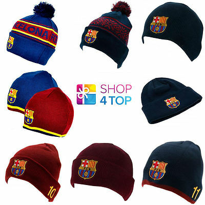 Fc Barcelona Official Football Soccer Club Ski Knitted Hat Cap Winter Beanie New