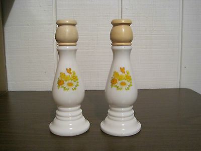 2 Vintage Avon Buttercup Candle Holders/bottles