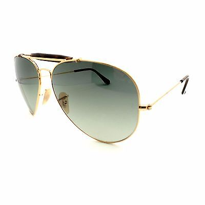 ae14be109 Ray Ban RB 3029 181/71 62 Gold Havana Grey Outdoorsman New Authentic  Sunglasses