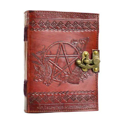 Witch's Pentagram 7x5 Leather Latch Notebook Book Shadows Diary Journal Handmade