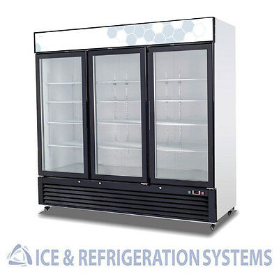 Migali 72Cf Commercial 3 Hinged  Glass Door Freezer Reach In C-72FM