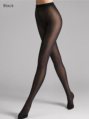 Wolford Velvet De Luxe 50 Tights, Luxury Soft Opaque Black Tights