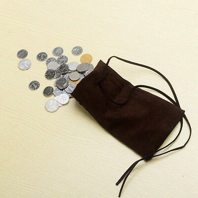 Medieval Money Pouch Larp/Pagan/Reenactment Purse Drawstring Coin Wallet/Bag
