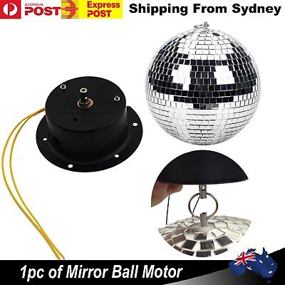 New Small Mirror Ball Motor Disco Light Up To 30cm Celing Rotation Motor Party D