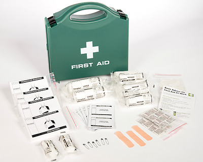 Standard First Aid Box with 1-10 person contents - HSE Compliant CE Long Exp
