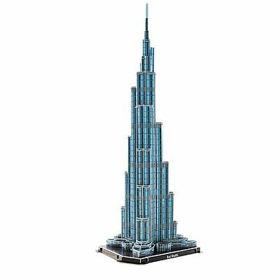 3D Jigsaw Puzzle Burj Khalifa Tower 64 Pieces Toy New WK