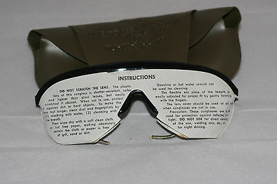 Vintage Sunglasses US Military Issue-1984 S475D-Case-Official Issue-Springs