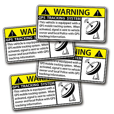 MINI GPS Sticker Anti Theft Vehicle Security Warning Alarm Safety System Decal