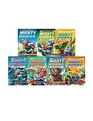 Ricky Ricottas Mighty Robot Collection Set 1-7 Childrens Books Adventure Series!