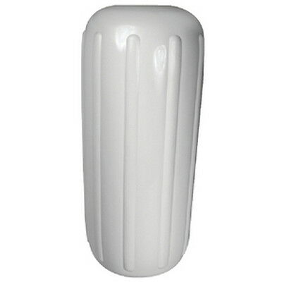 10 Inch x 25 Inch Center Hole White Inflatable Vinyl Fender for Boats