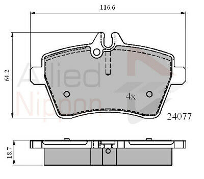 Front Brake Pads Fit Mercedes-BenzA-Class 2004-2012 A 150 160 170 180 200 Cdi